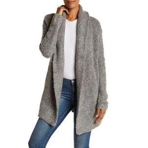 Joie Solome Gray Nubby Long Open Cardigan Sweater
